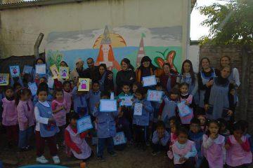 Terminamos el mural en el jardin de infantes N° …