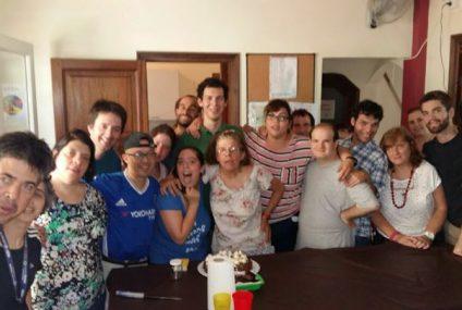 Festejando el cumpleaños de Cristian Furlano