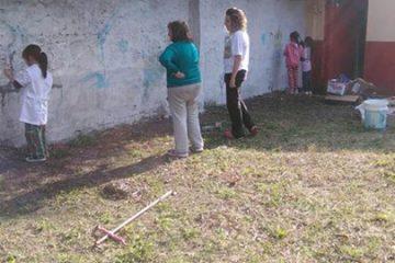 Seguimos trabajando en la escuela N° 5 de Beccar